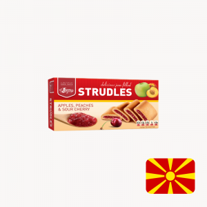 strudel strudles apple peach sour cherry plum the biscuit baron north macedonia mixed fruit